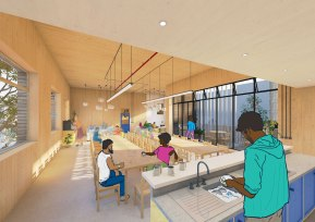Communal kitchen space